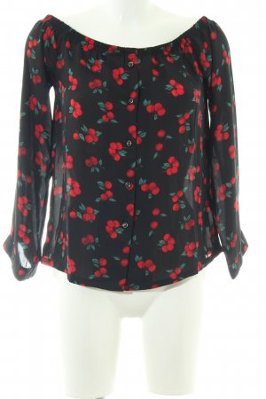 Mint&berry Carmen-Bluse Allover-Druck Casual-Look