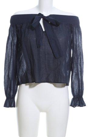 Mint&berry Carmen-Bluse blau Casual-Look