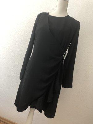 Mint & Berry Cocktail Kleid mit seitlicher Raffung schwarz Größe M 38