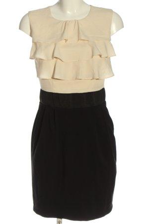 Mint&berry Vestido de cóctel crema-negro elegante