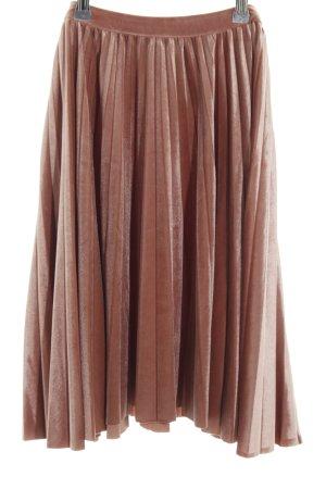 Mint&berry Plaid Skirt brown