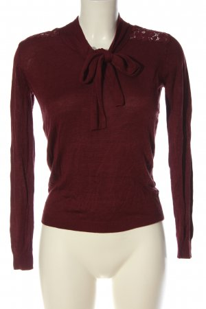 Mint&berry Feinstrickpullover rot Casual-Look