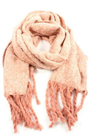 Mint&berry Sjaal met franjes roze-wolwit gestreept patroon casual uitstraling