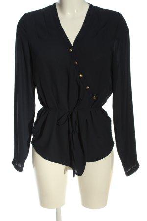 Mint&berry Blusa brillante nero stile casual