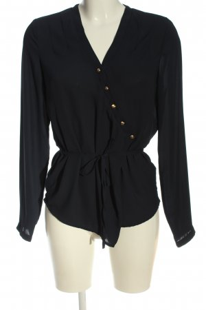 Mint&berry Glanzende blouse zwart casual uitstraling