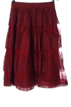Mint&berry Falda acampanada rojo look casual