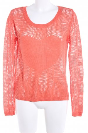 Mint&berry Grobstrickpullover rot Party-Look