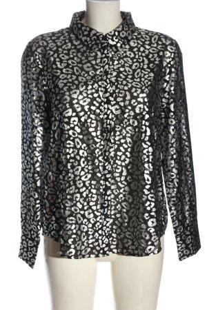 Mint&berry Blusa-camisa negro-color plata elegante