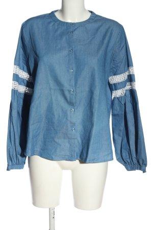 Mint&berry Hemd-Bluse blau-weiß Casual-Look
