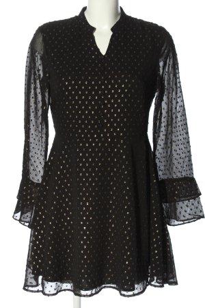 Mint&berry Hemdblusenkleid schwarz-creme Punktemuster Casual-Look