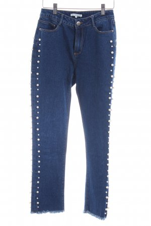 Mint&berry Hoge taille jeans staalblauw extravagante stijl