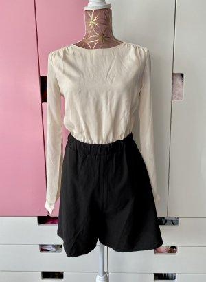 Mint & Berry Jumpsuit schwarz weiß Größe S