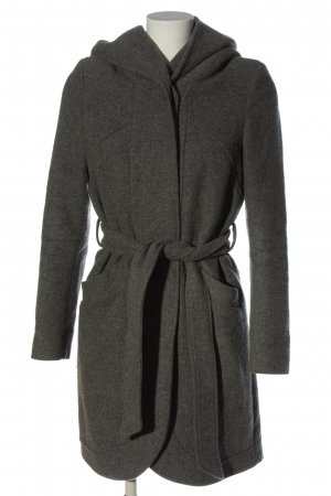 Mint&berry Hooded Coat light grey flecked casual look