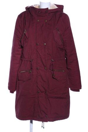 Mint&berry Cappotto con cappuccio rosso stile casual