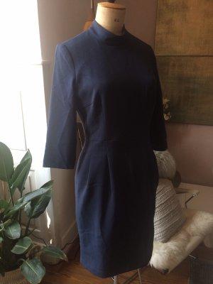 Mint&berry Sheath Dress dark blue polyester