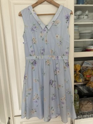 Mint&berry Chiffon Dress azure-baby blue