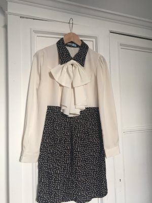 Mint&berry Dress white-dark blue