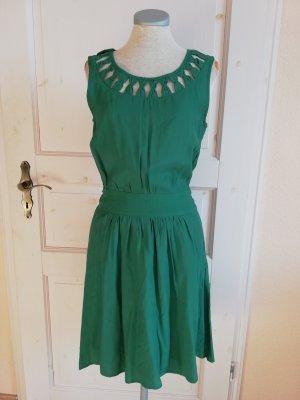 mint&berry Kleid grün Gr. S 36 Schleifen Midikleid Etuikleid retro