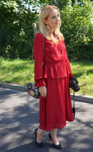 mint & berry Kleid Rot