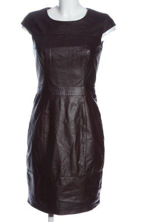 Mint&berry Vestido effecto piel negro elegante