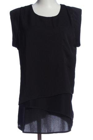 Mint&berry Kurzarm-Bluse schwarz Casual-Look