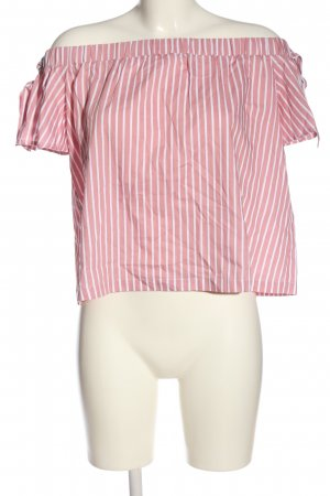 Mint&berry Kurzarm-Bluse pink-weiß Allover-Druck Casual-Look