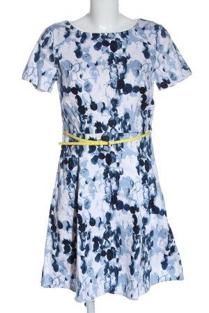 Mint&berry Robe à manches courtes blanc-bleu motif abstrait style décontracté
