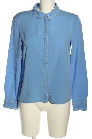 Mint&berry Langarm-Bluse blau Casual-Look