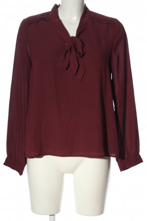 Mint&berry Long Sleeve Blouse red business style