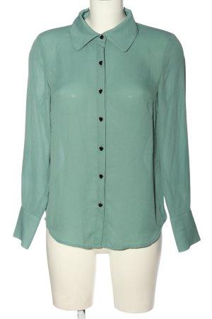 Mint&berry Chemise à manches longues vert élégant