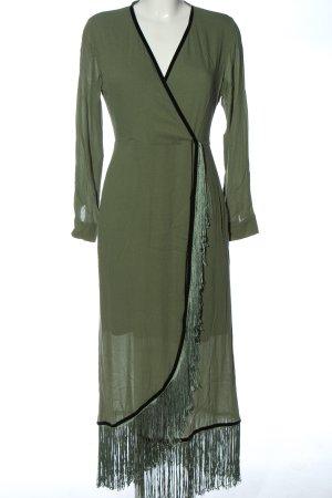 Mint&berry Sukienka z długim rękawem zielony Elegancki