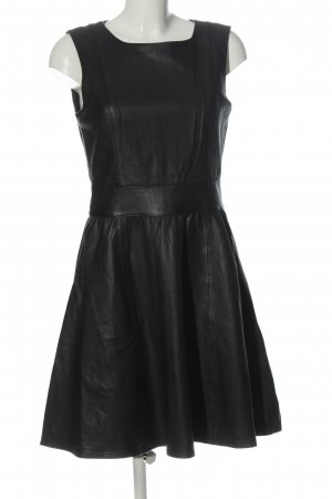 Mint&berry Lederkleid schwarz Elegant