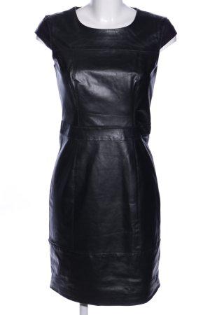 Mint&berry Robe en cuir noir style décontracté