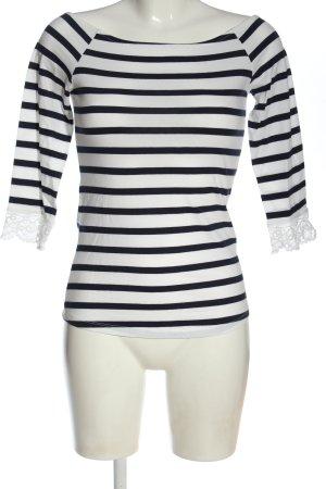 Mint&berry Koszulka z długim rękawem biały-niebieski Na całej powierzchni