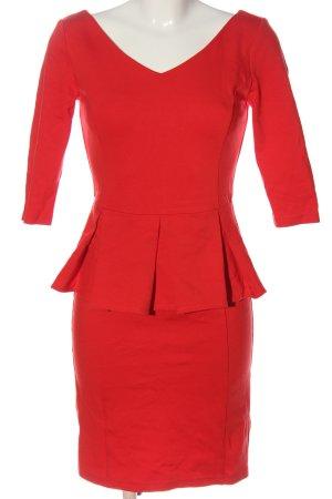 Mint&berry Vestito peplo rosso elegante