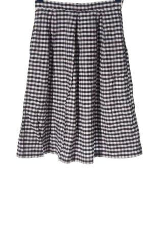 Mint&berry Mini-jupe noir-blanc motif à carreaux style décontracté