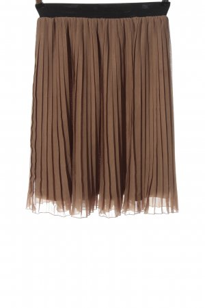 Mint&berry Pleated Skirt brown party style