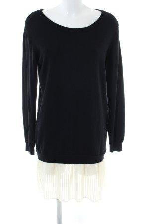 Mint&berry Pulloverkleid schwarz-wollweiß Casual-Look