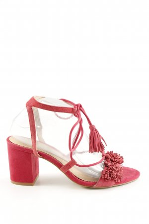Mint&berry Strapped High-Heeled Sandals red casual look