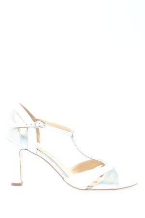Mint&berry Riemchenpumps weiß-silberfarben Elegant