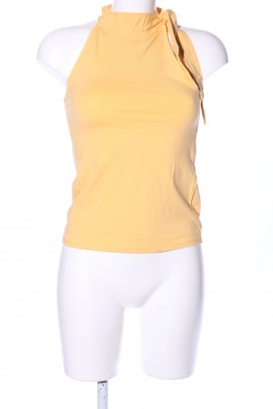 Mint&berry Top de cuello de cisne naranja claro look casual