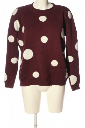 Mint&berry Rundhalspullover rot-weiß Punktemuster Casual-Look