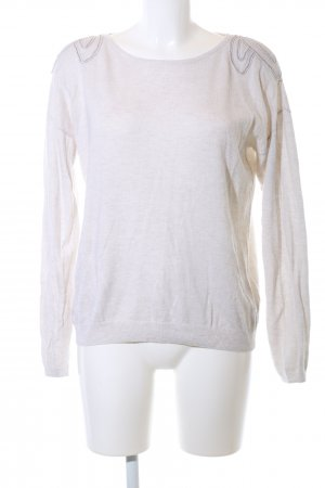 Mint&berry Rundhalspullover creme Casual-Look