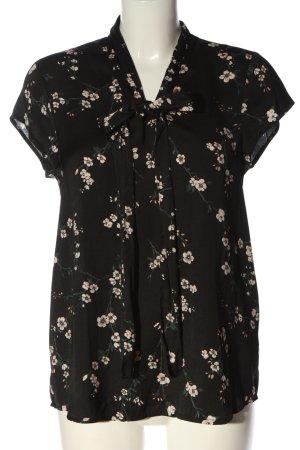 Mint&berry Schlupf-Bluse schwarz-weiß Allover-Druck Casual-Look