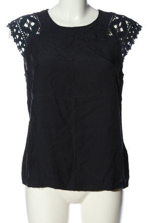 Mint&berry Blusa caída negro look casual