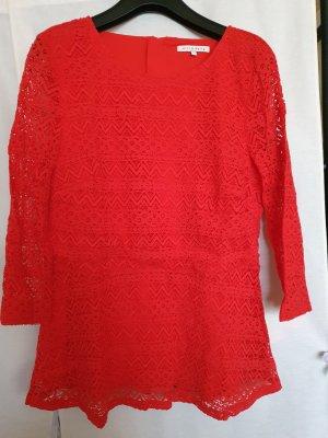 Mint&berry Blusa de encaje rojo