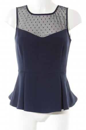Mint&berry Peplum Top dark blue spot pattern casual look