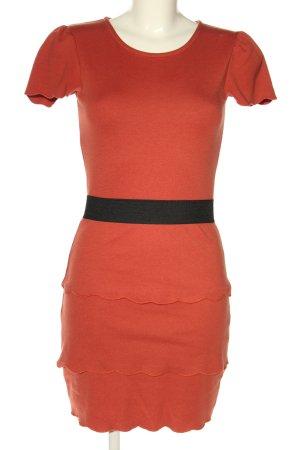 Mint&berry T-shirt jurk rood casual uitstraling
