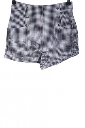 Mint&berry Shorts schwarz-weiß Karomuster Casual-Look