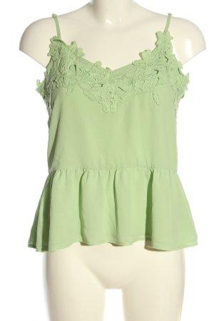 Mint&berry Top z cienkimi ramiączkami zielony W stylu casual